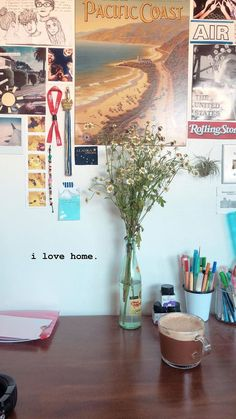 please try to have fresh flowers in room as much as possible! they are so pretty - room aesthetic - Dorm Room İdeas Uni Room, Dorm Room, Chambre Indie, Grey Room, Room Goals, Aesthetic Room Decor, Dream Rooms, My New Room, House Rooms