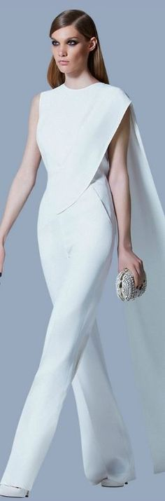 Elie Saab Pre-Fall 2013...very elegant, especially in white ! HotWomensClothes.com
