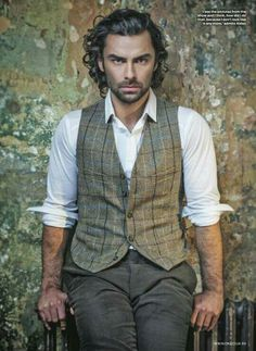 ''Aidan Turner as Ross Poldark - clean, crisp voice with an honesty to it; means business but soothing at the same time''