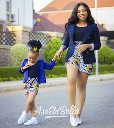 African Print/ Ankara Blouse and Skirt/ African Clothing/ Ankara Print : Couples African Outfits, African Dresses For Kids, African Print Dresses, African Attire, African Wear, African Kids, African Style, African Fashion Designers, African Fashion Ankara