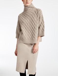 "Wool and cashmere sweater, sand - ""CANTONE"" Max Mara"