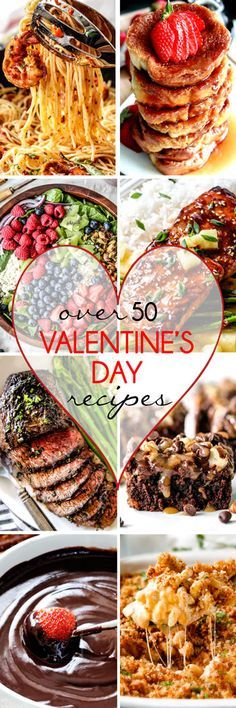 Over 50 of the BEST Valentine's Day Recipes from appetizers, and sides to entrees and desserts all in ONE place! You are guaranteed to find a the most delicious recipes to make your Valentine's the best ever! Valentines Day Dinner, Valentines Food, Valentine Treats, Valentine Day Crafts, Be My Valentine, Holiday Treats, Holiday Recipes, Valentine Party, Valentine Recipes
