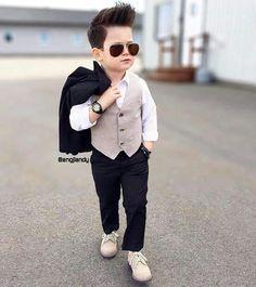 new ideas baby boy style hair kids fashion Toddler Boy Fashion, Cute Kids Fashion, Little Boy Fashion, Toddler Outfits, Baby Boy Outfits, Trendy Fashion, Fashion Hair, Cute Baby Boy, Baby Boys