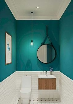 Our half bathroom ideas refer to dual sub-concepts that wrap one bathroom. This can lead to a unique look that makes the area outstanding. Read Gorgeous Half Bathroom Ideas 2020 (For Unique Bathroom) Small Bathroom Makeover, Bathroom Makeover, House Interior, Bathroom Interior Design, Bathroom Decor, Home, Small Toilet Room, Green Bathroom, Bathroom Design Small
