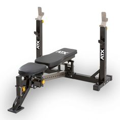 A very industrial bench for home-use and more functional than commercial alternatives. The bench offers multiple adjustments for pressing, from a 10 degree decline bench press to shoulder press. The benches contour and padding proves very comfortable. Home Made Gym, At Home Gym, Leg Curl, Biceps, Adjustable Bench Press, Industrial Bench, Gym Machines, Home Gym Design, Squats