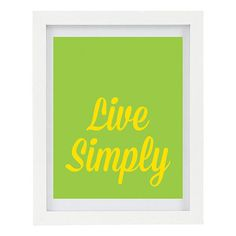 Live Simply Inspirational Print Happiness by ColourscapeStudios