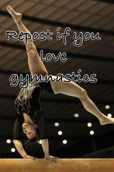 Repost if u love gymnastics!
