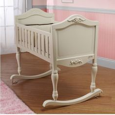 Baby Rocking Cradle Nursery Furniture Crib Antique Style Bassinet Newborn Infant #Orbelle