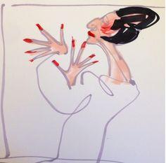 Diana Vreeland, Fashion Sketch, Fashion Illustration. by Donald Drawbertson, via Instagram.