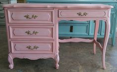 """Your little princess just went back to school and she still needs a desk at home! :) The dimensions are 46.5"""" L, 19"""" W, 30"""" H. SOLD!! for $250"""