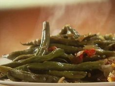 Ree's Best Green Beans Ever : Bacon grease is Ree's secret ingredient in her Best Green Beans Ever dish. via Food Network.