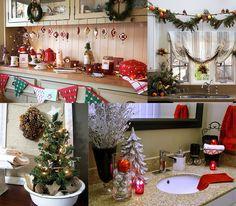 Decorar uma cozinha e uma casa de banho no Ano Novo