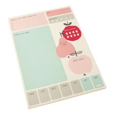 DAILY NOTES PAD: UPPSALA - love this daily to do list pad