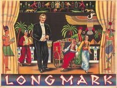 Original Vintage Poster Longmark Magician Magic Illusion Egypt Turkish 1930s Art