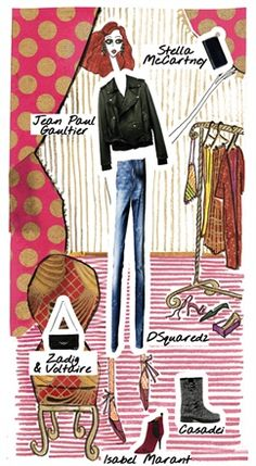 Look 6 - Fanny - Punk: to find out what the Doll is wearing, click on the illustration...