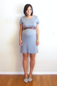 Putting Me Together: Heathered T-shirt Dress
