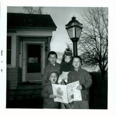 vintage photo Brothers Sing Christmas Carols by the by maclancy