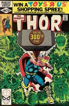 THOR # 300 MARVEL COMICS 1980 vf+