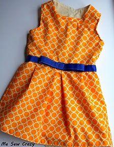 Jackie dress for little girls--free pattern