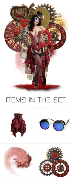"""Colorful Steampunk"" by taniucha ❤ liked on Polyvore featuring art, red, doll, colorful and steampunk"