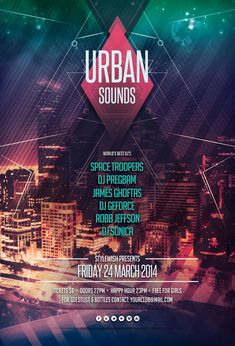 Urban Sounds Flyer by styleWish on Graphicriver (PSD Template)