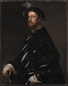 """Titian, """"Portrait of a Man Holding a Book"""" (1540)"""