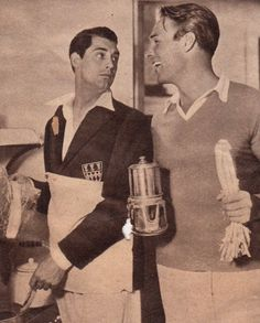 Movie stars Cary Grant and Randolph Scott at the home they shared for 12 years in the 30s and 40s.
