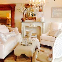 Norwalk Callie sofa, Mia chair, Swag ottoman (in pearlized top grain leather), at Trovato Interiors
