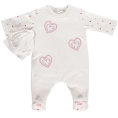 Baby Girl All in One with Hat - Baby All in One Suit - Emile et Rose