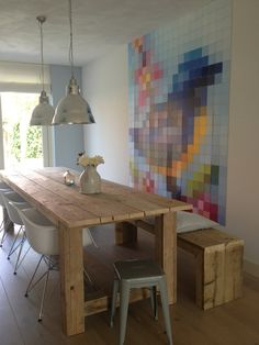 Our Special Collection 'Patchwork bird'. For more Pixels, see: http://www.ixxidesign.com/producten/special-collectie/pixel