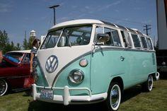 Seafoam green VW Microbus!