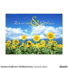 Summer Sunflowers Wedding Invitation