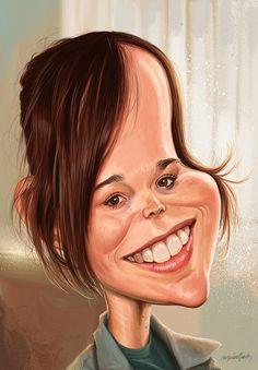 Ellen Page - actriz canadiense. Fue nominada a los premios Oscar y Globo de Oro en la categoría de mejor actriz por su actuación en Juno.