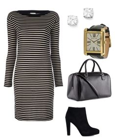 """""""Untitled #361"""" by mchlap on Polyvore featuring S.N.S. Herning, Kenneth Jay Lane, Stuart Weitzman, Michael Kors and H&M"""