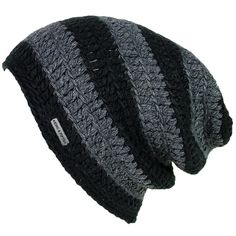 Mens Slouchy Beanie - The Beeskie - Black/Charcoal - King & Fifth Supply Co.