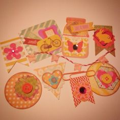 Handmade embellishments made from scraps by Mary Engelman @ marymishmash. etsy.com