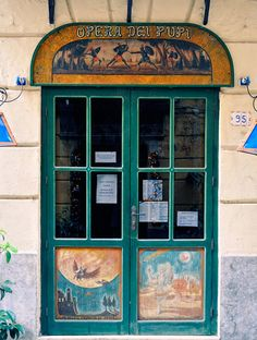 Puppet theatre (l'opera dei pupi) of the Cuticchio family, via Bara All'Olivella, Palermo.