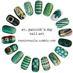 Bing : st patricks day nail art