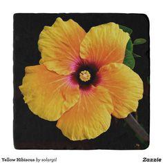 Yellow Hibiscus Trivets