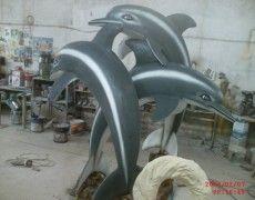 Üçlü Yunus Fıskiye Fish Sculpture, Sculptures, Dolphins, Fountain, Water Fountains, Common Dolphin, Seal, Sculpture