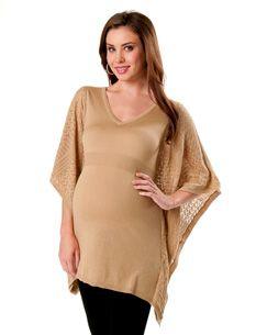 Short Sleeve Pointelle Maternity Sweater