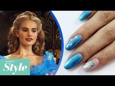 Disney Cinderella Inspired Nail Art - http://www.nailtech6.com/cinderella-disney-inspired-nails-art/
