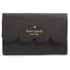 kate spade new york 'lily avenue - kieran' wallet ($168) ❤ liked on Polyvore featuring bags, wallets, pocket bag, kate spade, leather wallet, snap wallet and leather snap wallet