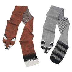 Raccoon and Fox Stoles