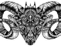 "Check out new work on my @Behance portfolio: ""Zentangle Aries 