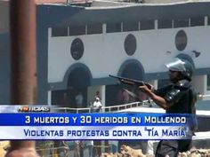 Protesta Contra Minera Tía María deja 3 muertos- Tv Noticias.PeruTV