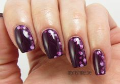 Purple Dotted Nails mit Vivid Violet (P2, All Light UV Nail Polish)