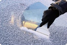 DIY de-icing methods for your car's windshield and lock. Glass specialists don't recommend vinegar because it will pit the glass. The best method uses rubbing alcohol.