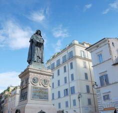 The Statue of Giordano Bruno at Campo de' Fiori in Rome