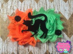 A personal favorite from my Etsy shop https://www.etsy.com/listing/248052849/halloween-shabby-bow-black-cat-hair-bow